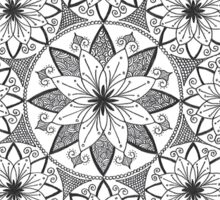 Flower spiral mandala design Sticker