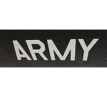 Army Photographic Print