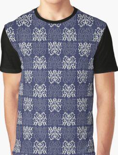 Pattern Navy Blue Graphic T-Shirt