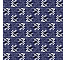 Pattern Navy Blue Photographic Print