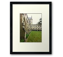 Cathedral yard in Salisbury Framed Print