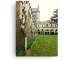 Cathedral yard in Salisbury Canvas Print