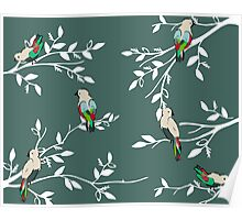 Birds in the trees Poster