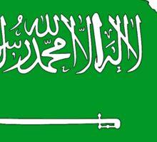 Saudi Arabia Map With Saudi Flag Sticker