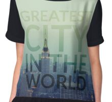 Greatest City in the World Chiffon Top
