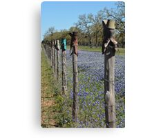 Boot Fence Canvas Print