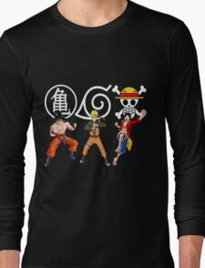 Goku-Naruto-Luffy Long Sleeve T-Shirt