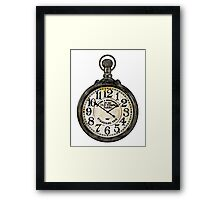 Steampunk Pocket Watch Design Framed Print