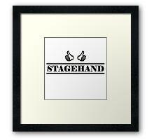 Stagehand black Framed Print