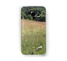 turkey and her poults Samsung Galaxy Case/Skin