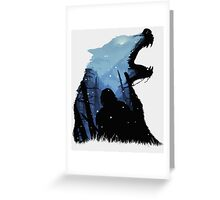 Jon Snow - King of The North Greeting Card