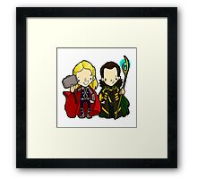 The brothers from Asgard Framed Print