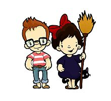 You'd think they'd never seen a girl and a cat on a broom before by Bantambb