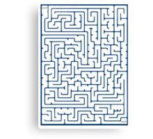 Maze in Blue Canvas Print
