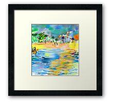 Tropical Seashore by Roger Picker, Goofy America Framed Print