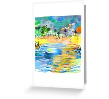 Tropical Seashore by Roger Picker, Goofy America Greeting Card