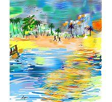 Tropical Seashore by Roger Picker, Goofy America Photographic Print