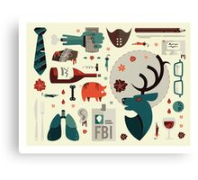 Hannibal Icons Canvas Print
