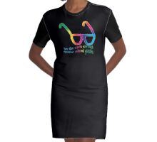 See the world through rainbow colored glasses Graphic T-Shirt Dress