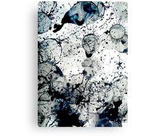 Ink Splatter Abstract Art Canvas Print