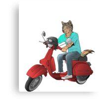 wolf rider Canvas Print