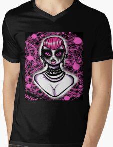 Punk head pink  Mens V-Neck T-Shirt