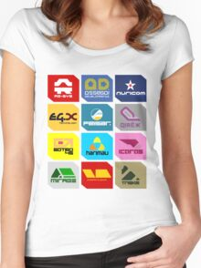 Wipeout Teams! Women's Fitted Scoop T-Shirt