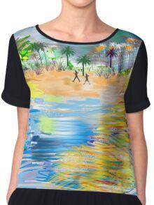 Tropical Seashore by Roger Picker, Goofy America Chiffon Top