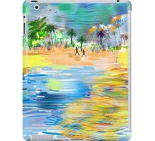 Tropical Seashore by Roger Picker, Goofy America iPad Case/Skin