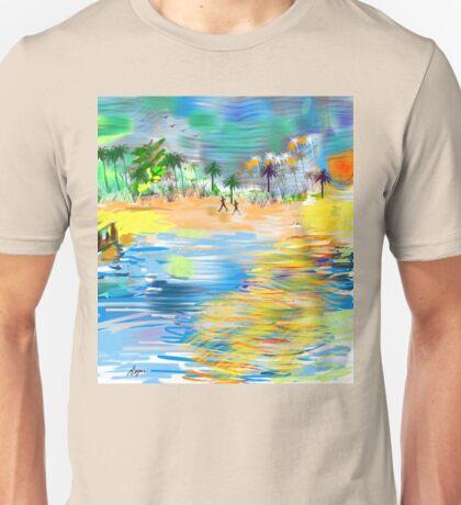 Tropical Seashore by Roger Picker, Goofy America Unisex T-Shirt