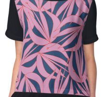 Line Work Floral Chiffon Top
