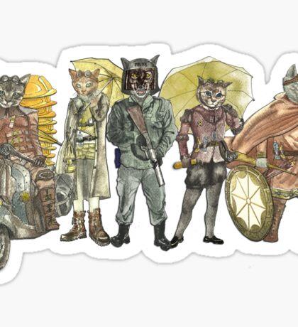 Steampunk Justice Revolution Clan Sticker