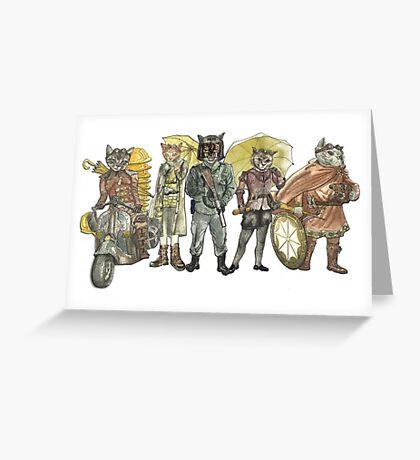Steampunk Justice Revolution Clan Greeting Card