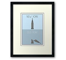 Old York - Oops! Framed Print