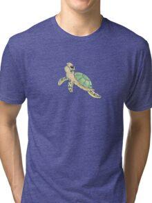 Swimming Sea Turtle Tri-blend T-Shirt