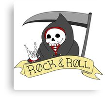 Rock and Roll Grim Canvas Print