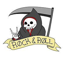 Rock and Roll Grim Photographic Print