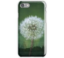 Dandelion Flower Fluff Starry Sky Art iPhone Case/Skin