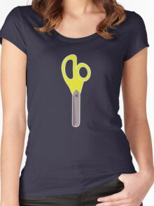 Yellow Scissors Women's Fitted Scoop T-Shirt
