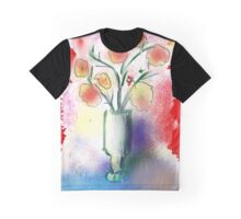 Vase With Flowers by Roger Pickar, Goofy America Graphic T-Shirt