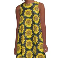 Sunny Day Sunflower hand painted  A-Line Dress