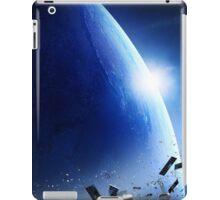 Space junk (pollution) orbiting earth iPad Case/Skin
