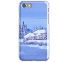 Winter Home On Alaska River iPhone Case/Skin