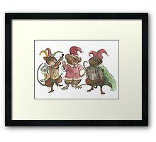 Clown Mice Framed Print