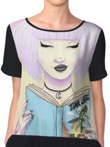 Girls read comics too! Tank Chiffon Top