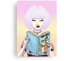 Girls read comics too! Tank Canvas Print