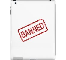 Banned Stamp iPad Case/Skin