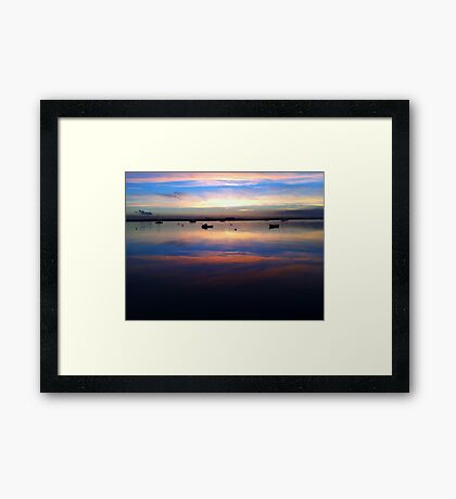 River Crouch Essex Sunset 4 Framed Print
