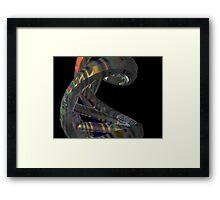 Hologram Effect DNA Molecule Framed Print