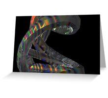 Hologram Effect DNA Molecule Greeting Card